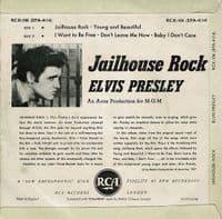 ELVIS PRESLEY Jailhouse Rock EP Vinyl Record 7 Inch RCA 1960